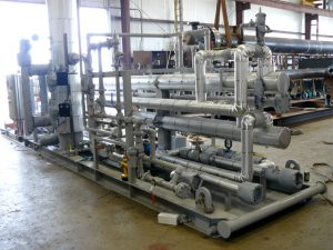 Exchanger and Control Skid after application of insulation